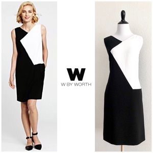 W by Worth Sleeveless Colorblock Sheath Dress
